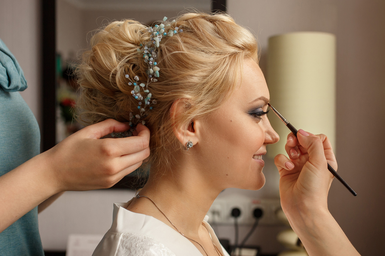 Bride wedding makeup at the R&R Spa in Bideford North Devon
