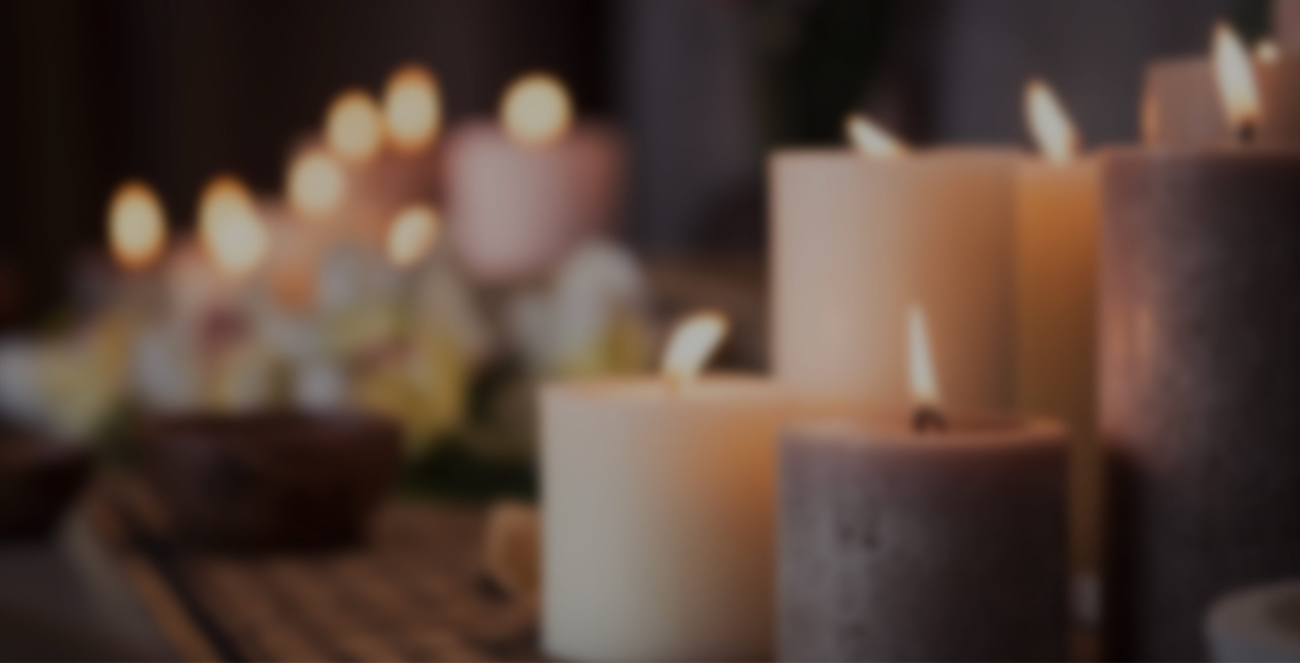 Aromatherapy Candles in a relaxed spa setting