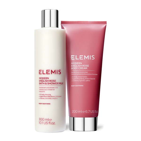 Elemis Modern English Rose Body Duo Gift Set contents